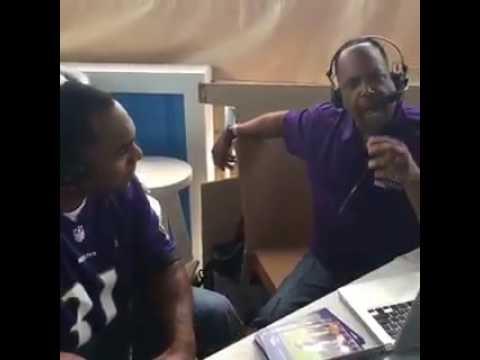 Jamal Lewis with Kirk at Ravens Beach Bash