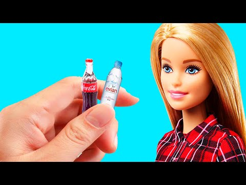 DIY MINIATURE HACKS AND CRAFTS FOR BARBIE ! MAKING EASY DOLLS CLOTHES | FOR KIDS