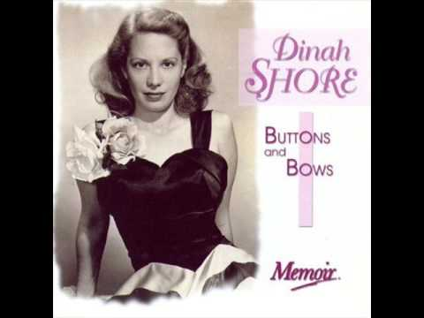 Image result for dinah shore sings buttons and bows