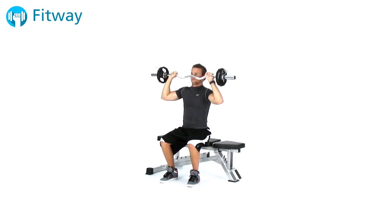 shoulder press how to sit