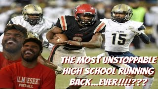 The Most Unfair High School Running Back Cam Akers Highlight Reaction  Sharpe Sports