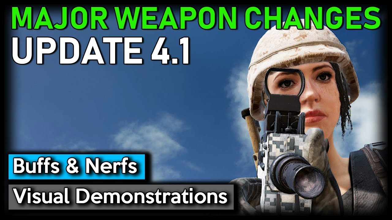 PUBG: ► MAJOR WEAPON CHANGES (Update 4.1 Buffs/Nerfs & Visual Demonstrations)
