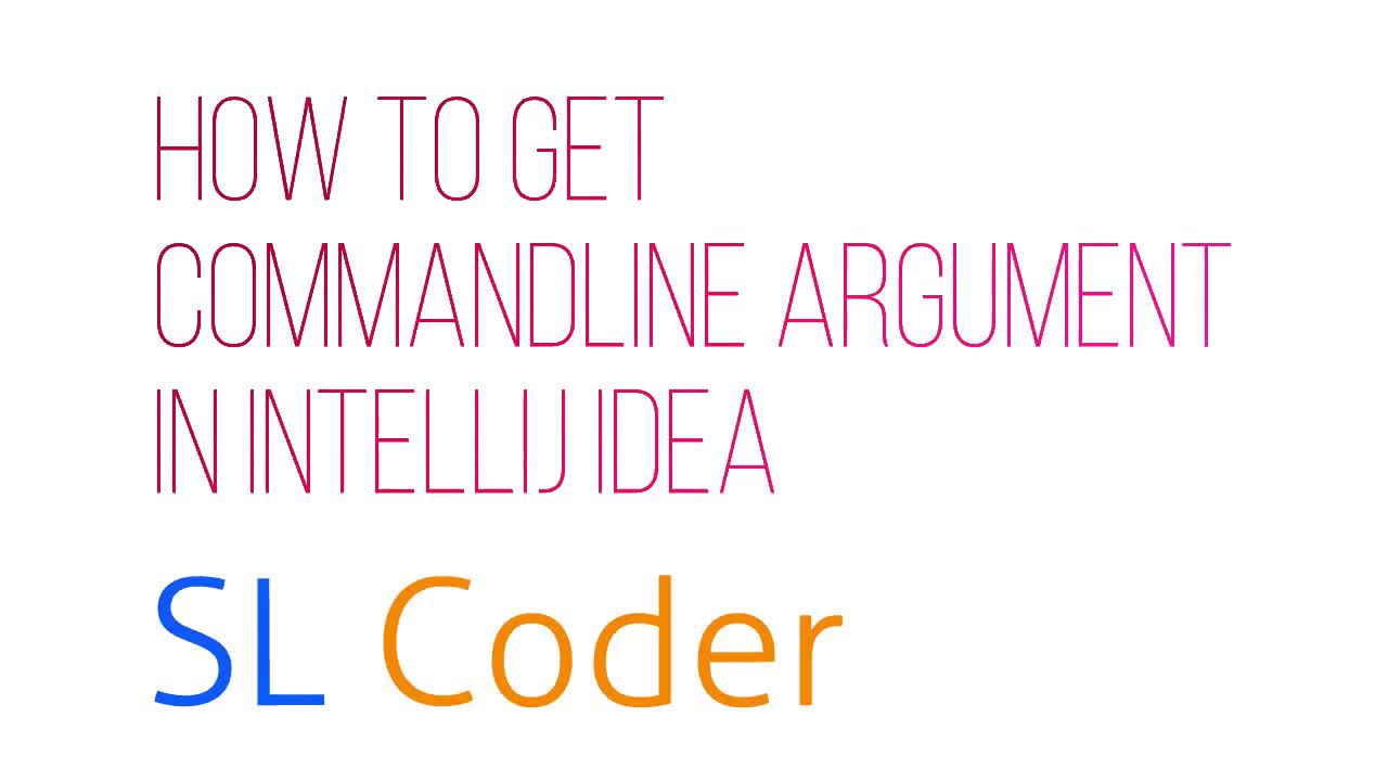 How to get commandline argument in IntelliJ