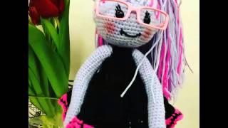 Кукла Виолетта в одёжке. Кукла Амигуруми.