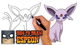 How to Draw Espeon | Pokemon