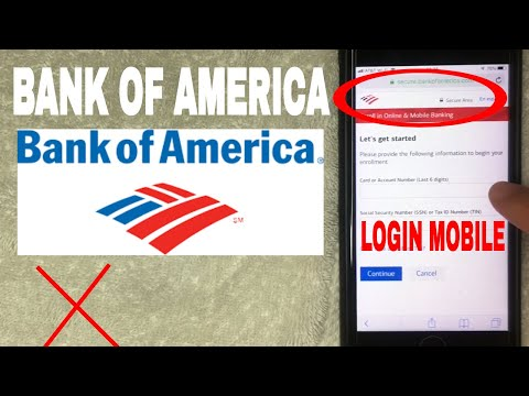 ✅  How To Register Log In Find Password Account Bank Of America Mobile Website 🔴