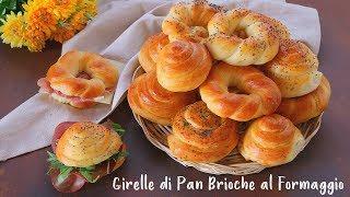 GIRELLE DI PAN BRIOCHE AL FORMAGGIO Ricetta Facile - Fatto in Casa da Benedetta