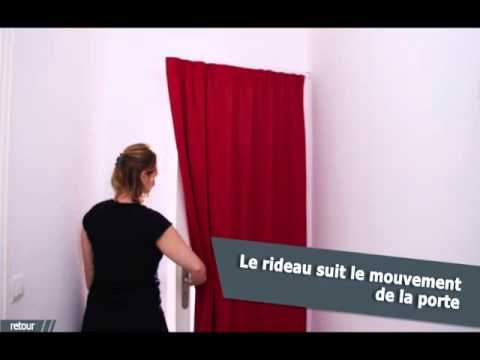 ridorail ib tringle pour habiller votre porte en renfoncement avec un rideau galon youtube. Black Bedroom Furniture Sets. Home Design Ideas