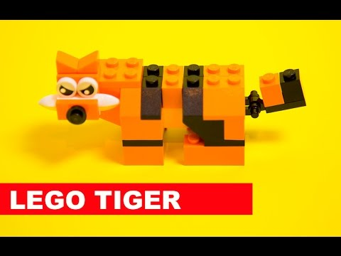 Lego Tiger ️ How To Build A Lego Tiger With Lego Classic 10696 Youtube