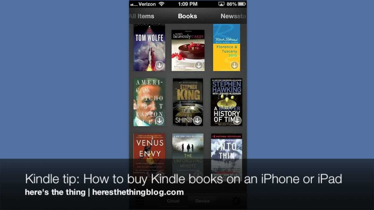 Kindle tip: How to buy Kindle books on an iPhone or iPad