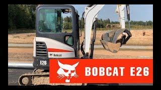 Обзор мини-экскаватора BOBCAT E26 | Спецтехника из Европы
