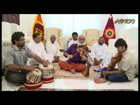 Maestro V Balaji performs before Sri Lanka president