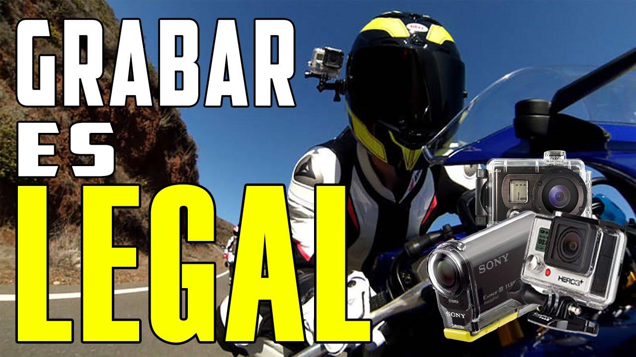 Es legal instalar una cámara GoPro en tu moto o casco