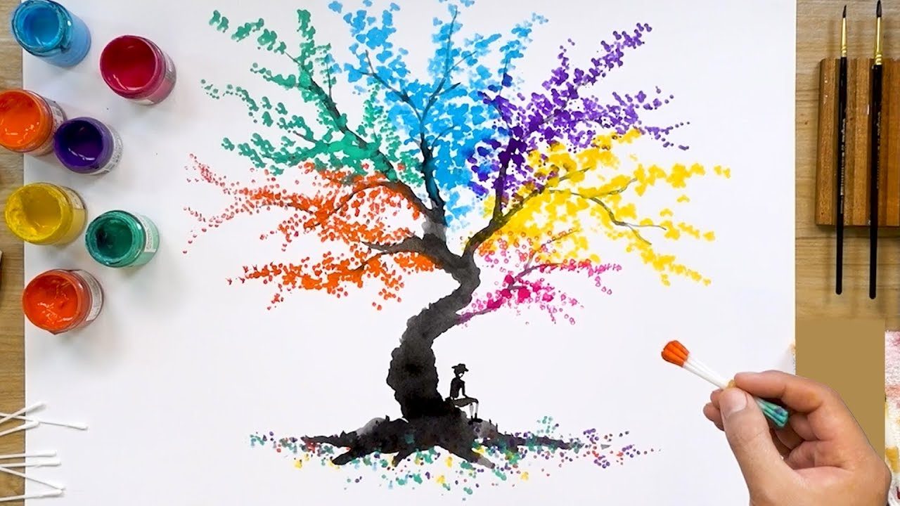 colorful abstract tree q