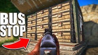 Raiding INTO a BUS STOP with TONS OF LOOT INSIDE! - Rust Raiding
