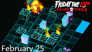Friday the 13th: Killer Puzzle - Daily Death February 25 Walkthough (iOS, Android)