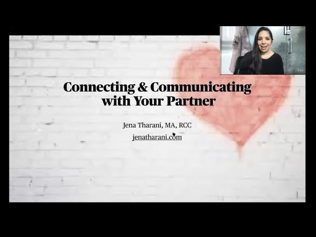 Connect & Communicate with Your Partner - A Workshop