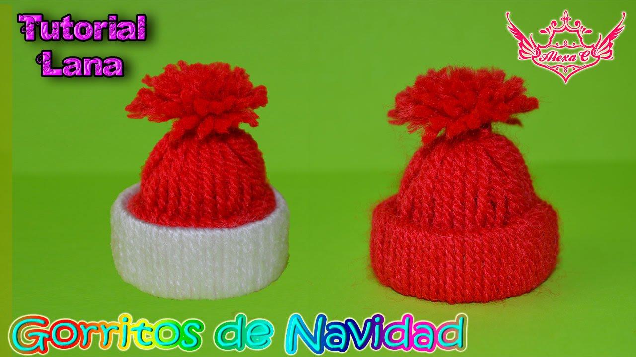 ♥ Tutorial  Gorritos Navideños de Lana ♥ - YouTube 9153516e5fb