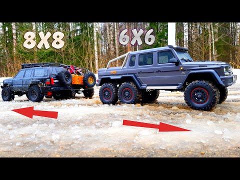 ГЕЛИК 6x6 против 8х8 ... Перетягивание ... Вот что значит G63 TRX-6 Traxxas