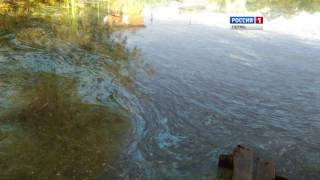 В Кунгуре озеро стало синим(http://t7-inform.ru/s/videonews/20160928121814 Жители Кунгура обсуждают загадочные метаморфозы с водой в местном озере. Дело..., 2016-09-28T07:00:00.000Z)