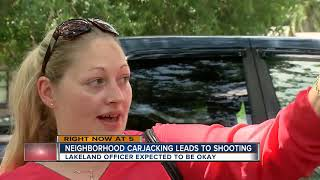Armed carjacking suspect shot in officer-involved shooting in Lakeland