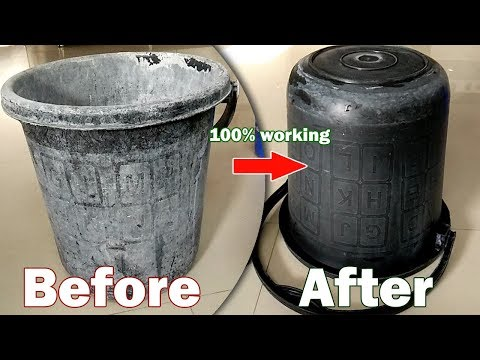 Bathroom Bucket Cleaning | Easy Technique For Cleaning Bucket  In Just 2 Minutes #Kavish Gami