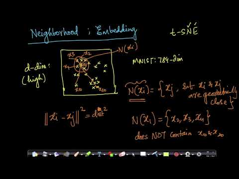 Neighborhood of a point, Embedding(t-SNE): Dimensionality reduction Lecture 22@ Applied AI Course