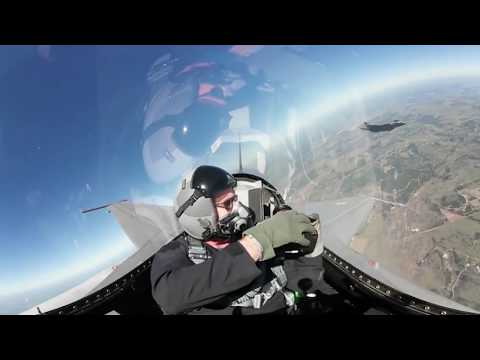 Sky High View: F-16 Aerial Photographer 360-Degree Video