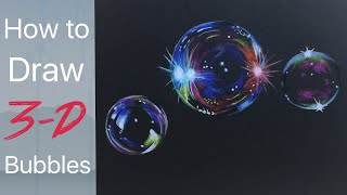 Bubble Drawing Tutorial - By Artist, Andrea Kirk | The Art Chik