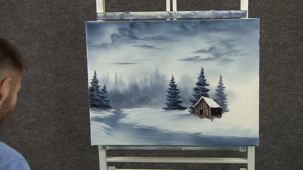 Paint With Kevin Hill Cold Snowy River Youtube