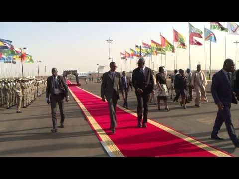 President Kagame and First Lady Jeannette Kagame arrive in Bamako for the Africa-France