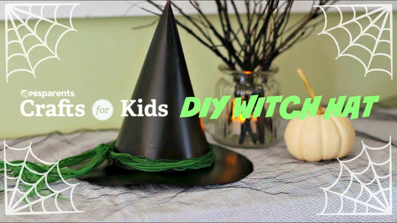 Diy witch hat halloween crafts for kids pbs parents for How to make homemade halloween crafts