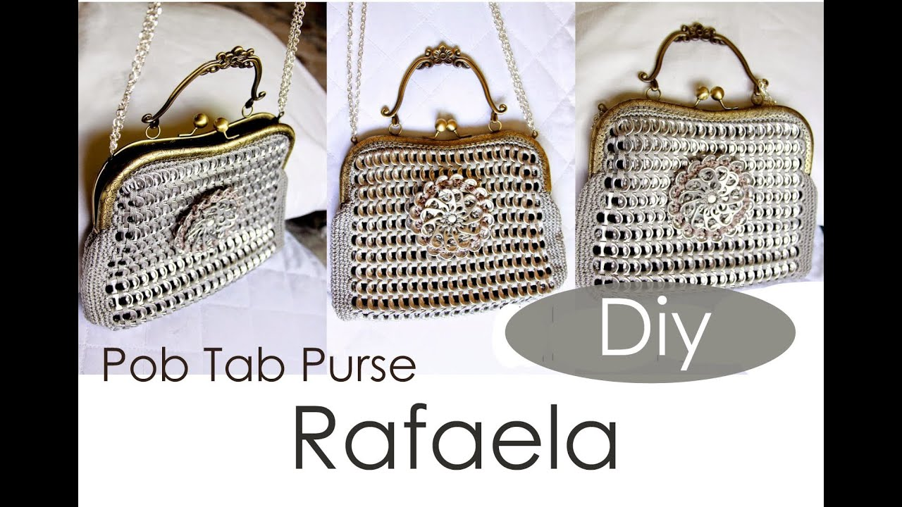 diy pop tab purse rafaela part 1 youtube