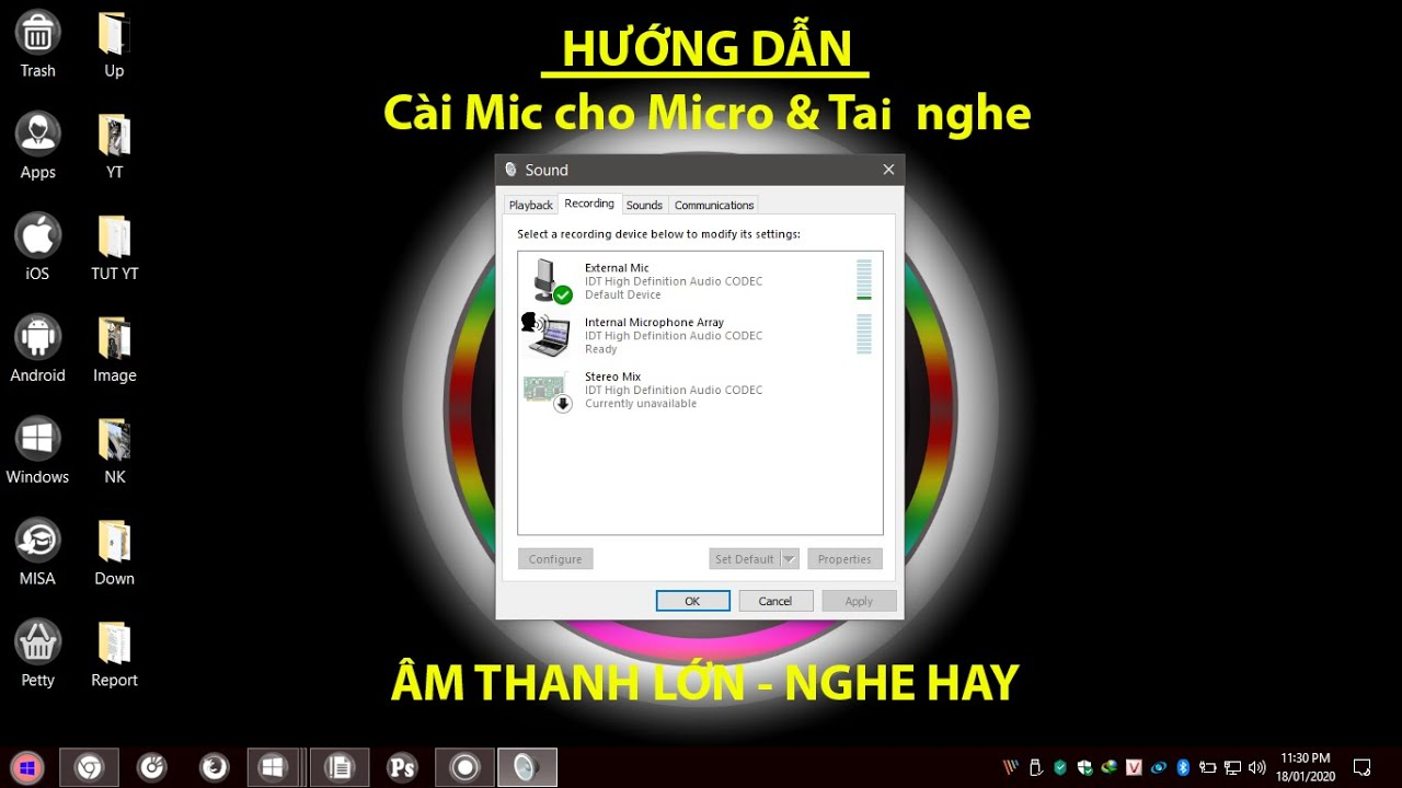 Cách cài Mic và Tay Nghe có Mic trên Windows 10 | Setting up Headphone and Microphone on Windows