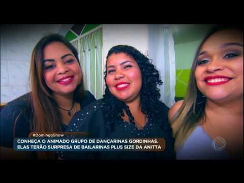 Dançarina plus size conquista a internet e ganha surpresa no Domingo Show