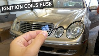MERCEDES W211 DOES NOT START IGNITION COIL FUSE