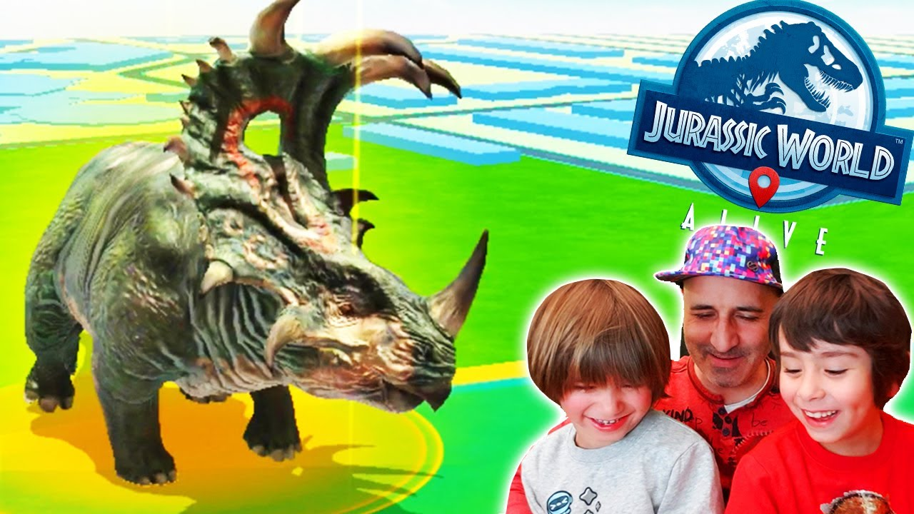 Dani y Evan a por el JEFE SINOCERATOPS!! en JURASSIC WORLD ALIVE