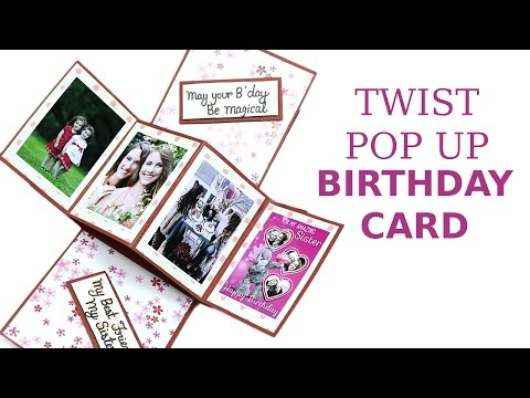 Unique Twist Pop Up Card Diy Birthday Greeting Card Making