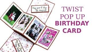 Unique Twist Pop Up Card DIY Birthday Greeting Card Making