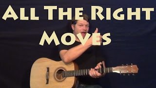 All The Right Moves (OneRepublic) Easy Strum Guitar Lesson How to Play Tutorial