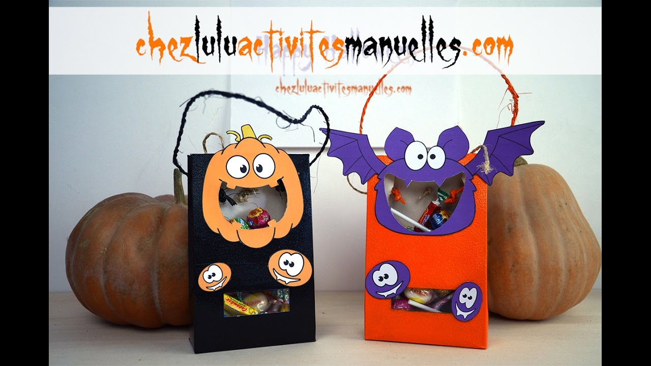sacs bonbons pour halloween activit manuelle bricolage enfant diy youtube. Black Bedroom Furniture Sets. Home Design Ideas