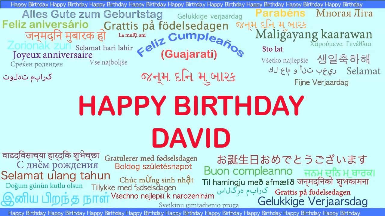 grattis david David Languages Idiomas   Happy Birthday   YouTube grattis david