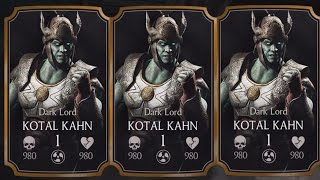 OPENING DARK LORD KOTAL KAHN EARLY ACCESS PACK | Mortal Kombat X (iOS/Android)