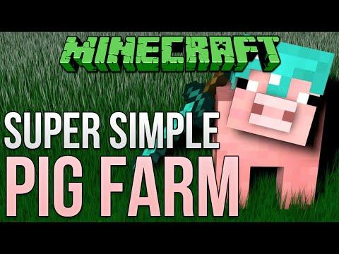Minecraft: Super Simple Pig Farm Tutorial