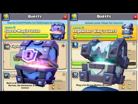 Mega Quest Chest Opening | Super Magical Chest, Legendary Kings Chest | Clash Royale