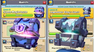 Mega Quest Chest Opening | Super Magical Chest, Legendary Kings Chest | Clash Royale