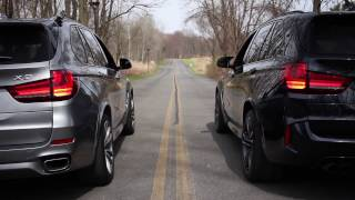 X5 M vs X5 50i (Collection Video) RACE @ :59 REVS+LAUNCH