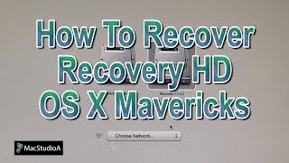 How To Recover Recovery HD Partition in OS X Mavericks