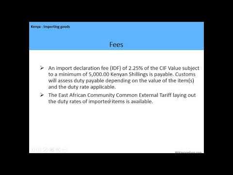 Kenya - Importing goods