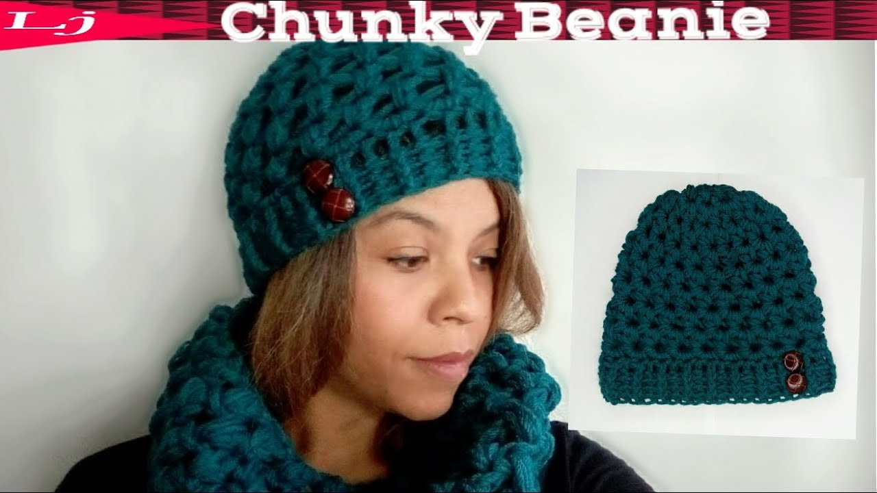 Quick Chunky Crochet Beanie Pattern Substitute Worsted Weight Yarn